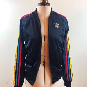 adidas Jackets & Coats - Adidas Rainbow Track Jacket